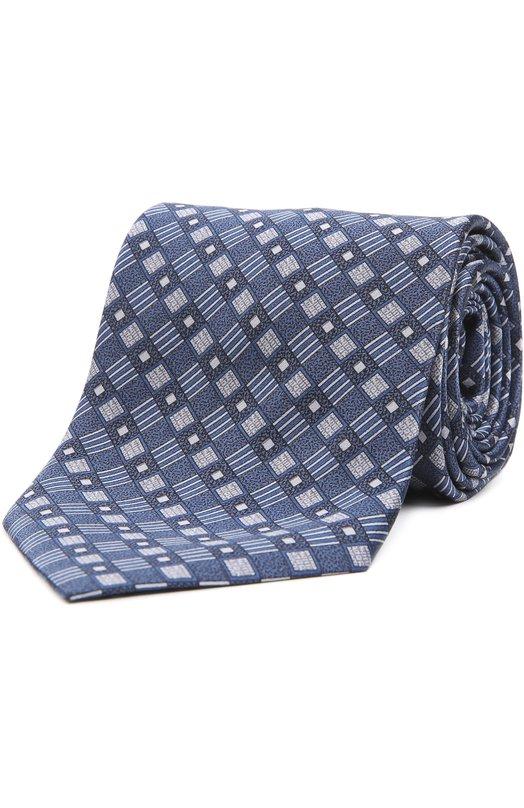 Шелковый галстук с узором BrioniГалстуки<br>Для создания галстука темно-синего цвета дизайнеры бренда выбрали мягкий шелк с геометрическим ромбовым узором. Аксессуар, выполненный мастерами марки вручную, вошел в коллекцию сезона осень-зима 2016 года. Нам нравится сочетать с белой рубашкой и темным костюмом.<br><br>Пол: Мужской<br>Возраст: Взрослый<br>Размер производителя vendor: NS<br>Материал: Шелк: 100%;<br>Цвет: Темно-синий