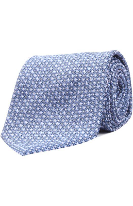 Шелковый галстук в клетку Prince of Wales Brioni 063I/P44EZ
