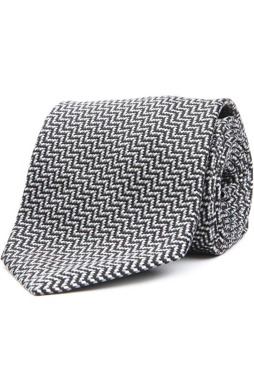 Шелковый галстук с узором Brioni 063I/P4496