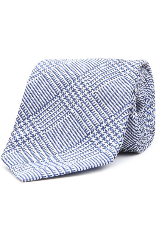 Шелковый галстук в клетку Prince of Wales Brioni 063I/P44FD