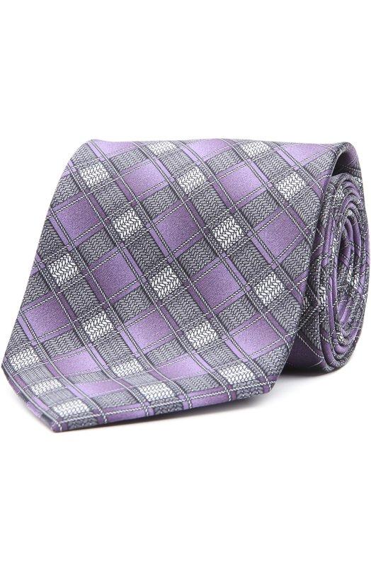 Шелковый галстук с узором Brioni 063I/P44BQ