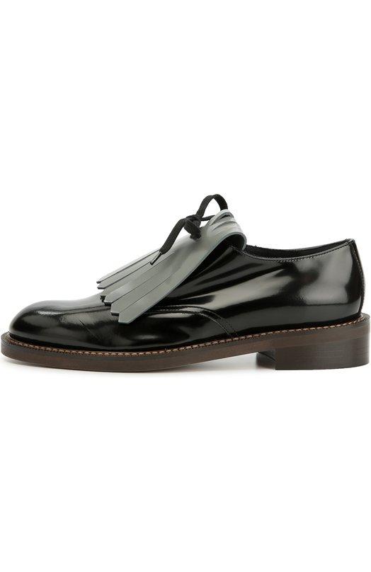 Кожаные ботинки с бахромой MarniБотинки<br>&amp;bull; Москва 441 EUR (30 900 RUB)&amp;bull; Милан 490 EUR&amp;bull; Лондон 500 EUR (450 GBP)&amp;bull; Дубай 533 EUR (2 160 AED)В коллекцию сезона осень-зима 2016 года вошли черные дерби на широкой подошве и низком наборном каблуке. Обувь создана из гладкой мягкой кожи с легким глянцевым блеском. Союзка декорирована съемной фигурной бахромой светло-серого цвета.<br><br>Российский размер RU: 38<br>Пол: Женский<br>Возраст: Взрослый<br>Размер производителя vendor: 38-5<br>Материал: Кожа натуральная: 100%; Подошва-резина: 100%; Стелька-текстиль: 100%;<br>Цвет: Серый