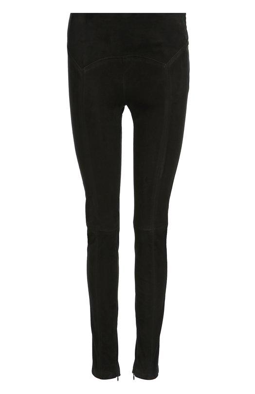 Замшевые брюки-скинни с фактурной отделкой Tom Ford PAL610/LEX055