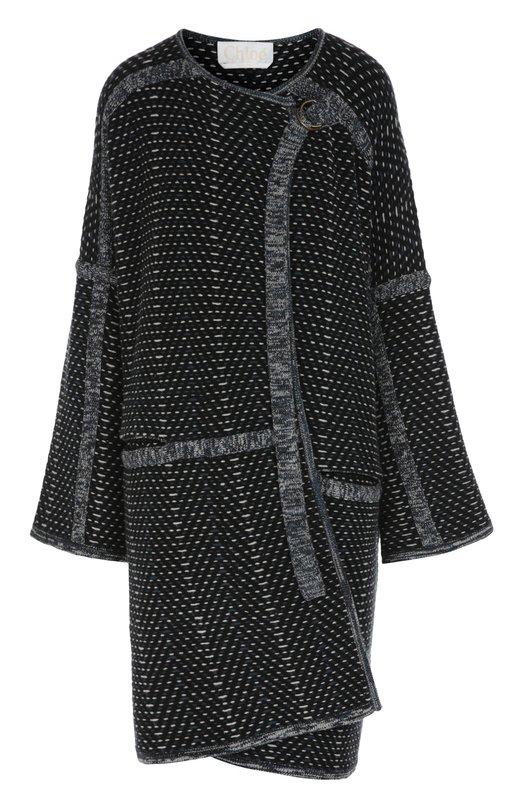Вязаное пальто прямого кроя с круглым вырезом Chloe 16AMM09/16A640