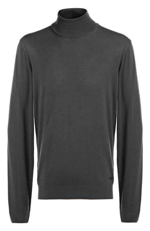 Шерстяная водолазка тонкой вязки Armani CollezioniСвитеры<br>Джорджио Армани включил водолазку темно-серого цвета в коллекцию сезона осень-зима 2016 года. Для производства модели с длинными рукавами использована мягкая шерстяная пряжа. Нам нравится сочетать с темным пальто в клетку, черными брюками и обувью.<br><br>Российский размер RU: 58<br>Пол: Мужской<br>Возраст: Взрослый<br>Размер производителя vendor: 58<br>Материал: Шерсть: 100%;<br>Цвет: Темно-серый