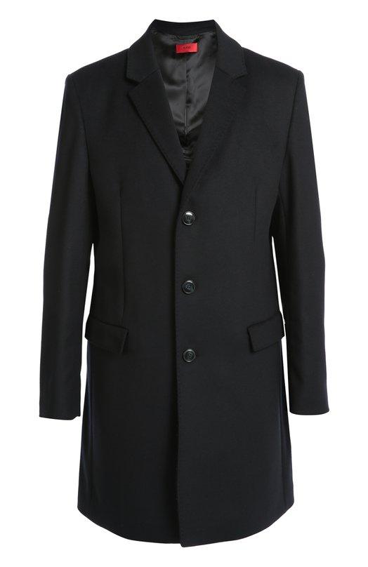 Шерстяное однобортное пальто HUGO 50287995