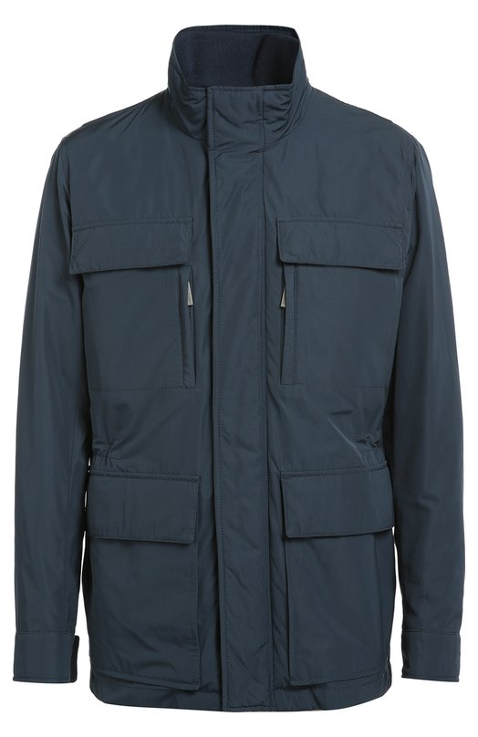 Удлиненная куртка с воротником-стойкой BOSSКуртки<br>Темно-синяя куртка прямого кроя, со съемной подкладкой вошла в осенне-зимнюю коллекцию 2016 года. Для создания удлиненной модели Casven с четырьмя накладными карманами использован плотный водонепроницаемый текстиль.<br><br>Российский размер RU: 52<br>Пол: Мужской<br>Возраст: Взрослый<br>Размер производителя vendor: 52<br>Материал: Полиамид: 100%;<br>Цвет: Темно-синий