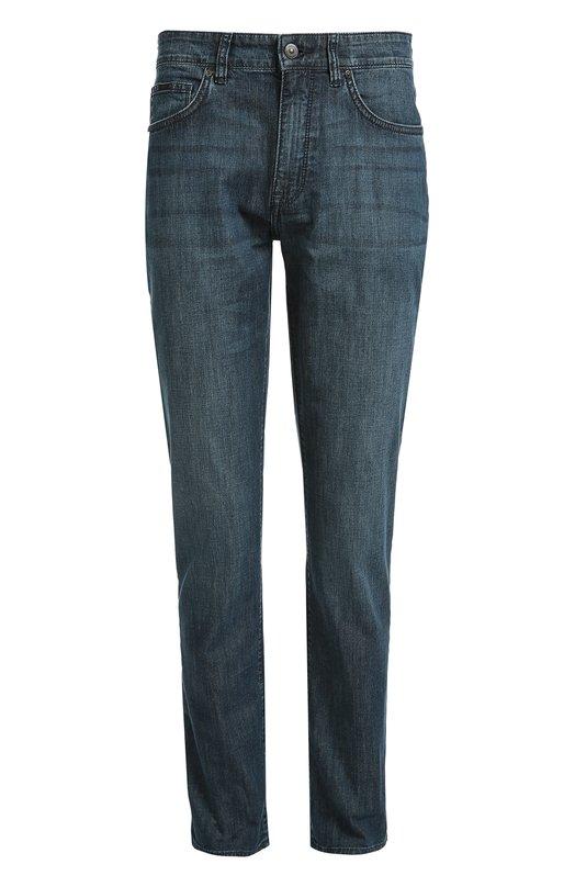 Джинсы прямого кроя с классической посадкой BOSSДжинсы<br>Джинсы вошли в коллекцию сезона осень-зима 2016 года. Для создания модели Maine мастера марки использовали плотный хлопок стрейч синего цвета. Рекомендуем сочетать с черным лонгсливом, темными курткой и обувью.<br><br>Российский размер RU: 48<br>Пол: Мужской<br>Возраст: Взрослый<br>Размер производителя vendor: 32/30<br>Материал: Хлопок: 100%;<br>Цвет: Голубой