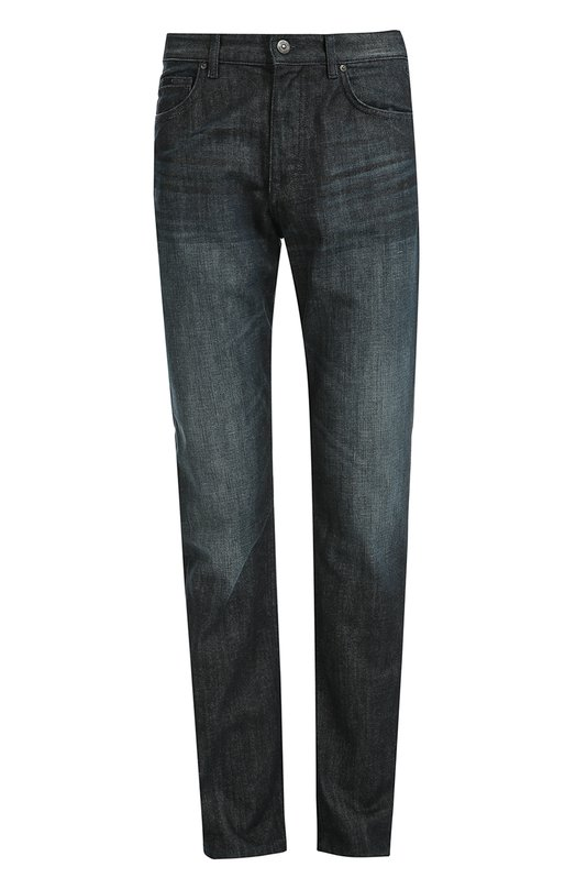 Джинсы прямого кроя с потертостями BOSSДжинсы<br>Мастера бренда сшили джинсы прямого кроя из плотной хлопковой ткани с небольшими потертостями. Модель Albany темно-синего цвета вошла в осенне-зимнюю коллекцию 2016 года. Нам нравится сочетать с лонгсливом, курткой и брогами.<br><br>Российский размер RU: 54<br>Пол: Мужской<br>Возраст: Взрослый<br>Размер производителя vendor: 36/32<br>Материал: Хлопок: 100%;<br>Цвет: Голубой