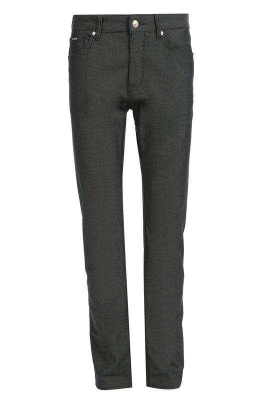 Прямые джинсы из эластичного хлопка BOSSДжинсы<br>Для производства модели прямого кроя мастера марки использовали плотный темно-серый хлопок стрейч. Джинсы Maine вошли в коллекцию сезона осень-зима 2016 года. Наши стилисты рекомендуют сочетать с пальто, лонгсливом и обувью черного цвета.<br><br>Российский размер RU: 58<br>Пол: Мужской<br>Возраст: Взрослый<br>Размер производителя vendor: 40/34<br>Материал: Хлопок: 98%; Эластан: 2%;<br>Цвет: Темно-серый