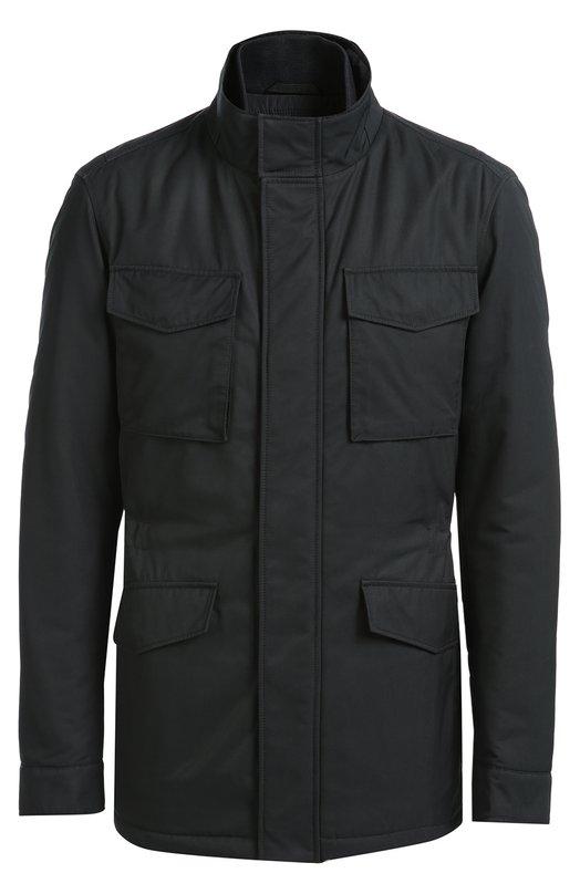 Удлиненная куртка с потайной застежкой-молнией HUGO BOSS Black LabelКуртки<br><br><br>Российский размер RU: 58<br>Пол: Мужской<br>Возраст: Взрослый<br>Размер производителя vendor: 58<br>Материал: Полиамид: 100%;<br>Цвет: Темно-синий