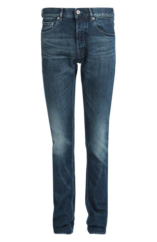 Джинсы прямого кроя с потертостями Stone IslandДжинсы<br>Синие джинсы вошли в коллекцию сезона осень-зима 2016 года. Для изготовления модели прямого кроя использован плотный хлопок с небольшими потертостями. Задний правый карман дополнен съемным патчем с вышитым логотипом марки. Рекомендуем носить с кедами черного цвета и серым кардиганом.<br><br>Российский размер RU: 48<br>Пол: Мужской<br>Возраст: Взрослый<br>Размер производителя vendor: 33<br>Материал: Хлопок: 98%; Эластан: 2%;<br>Цвет: Синий
