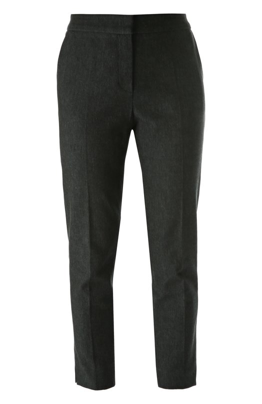 Укороченные брюки прямого кроя со стрелками EscadaБрюки<br><br><br>Российский размер RU: 50<br>Пол: Женский<br>Возраст: Взрослый<br>Размер производителя vendor: 42<br>Материал: Хлопок: 97%; Эластан: 3%;<br>Цвет: Темно-синий