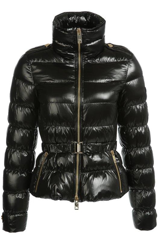 Стеганая куртка с поясом и высоким воротником Burberry 4022748