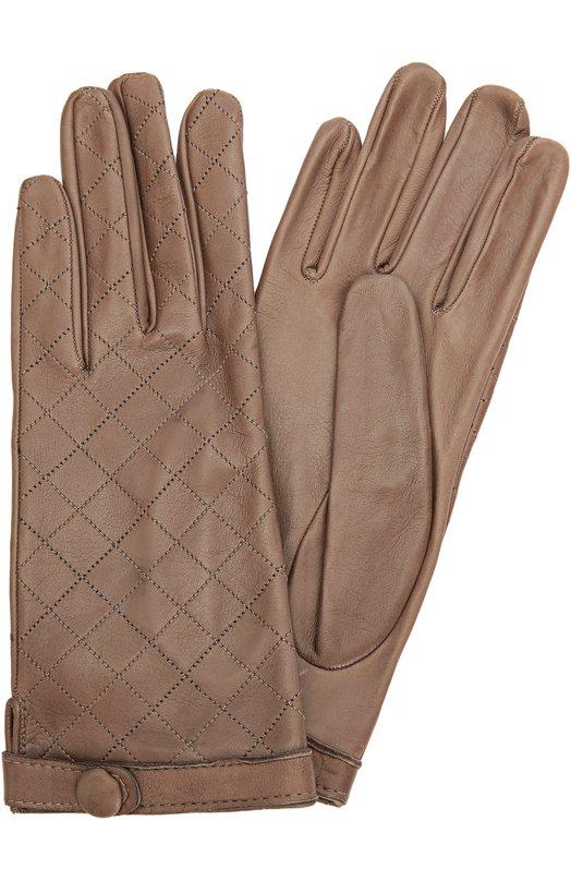 Кожаные перчатки с прострочкой Sermoneta Gloves SG03/750/M0D CASH/NAPPA