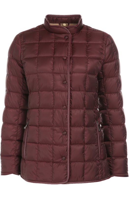 Стеганая куртка на заклепках с воротником-стойкой Fay NAW32333770GDX