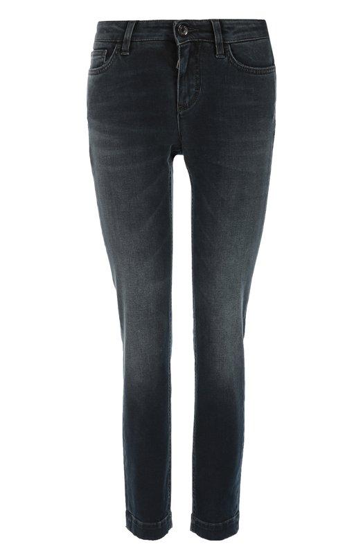 Укороченные джинсы скинни с потертостями Dolce & Gabbana 0102/FTAH7D/G882M