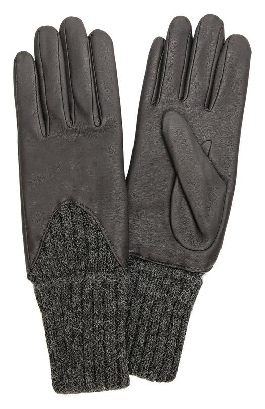 Кожаные перчатки с вязаными манжетами Agnelle CECILIA/A
