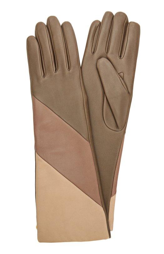 Удлиненные кожаные перчатки с подкладкой из шерсти Agnelle CELIADIAG/A