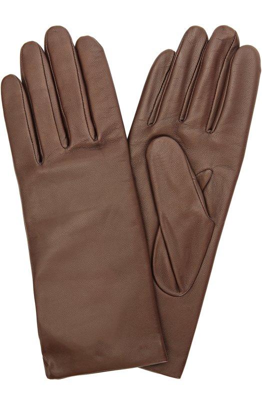 Кожаные перчатки с подкладкой из кашемира и шерсти Agnelle INES/C50