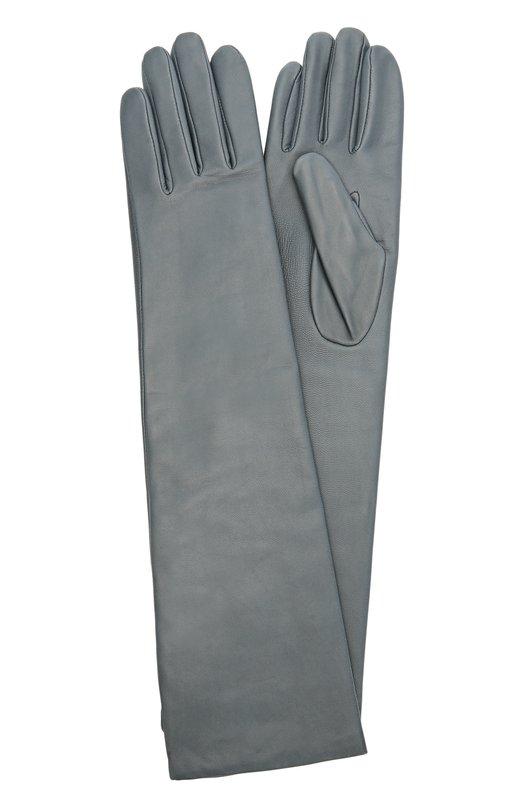 Удлиненные кожаные перчатки с отделкой из шерсти Agnelle 0PERA/A