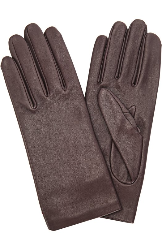Кожаные перчатки с подкладкой из шелка AgnelleПерчатки<br>Темно-фиолетовая модель с мягкой шелковой подкладкой вошла в коллекцию сезона осень-зима 2016 года. Перчатки средней длины сшиты вручную из тонкой кожи с легким матовым блеском. Чтобы аксессуар было удобно надевать и снимать, на запястье предусмотрен небольшой разрез.<br><br>Российский размер RU: 8<br>Пол: Женский<br>Возраст: Взрослый<br>Размер производителя vendor: 8<br>Материал: Подкладка-шелк: 100%; Кожа натуральная: 100%;<br>Цвет: Темно-фиолетовый