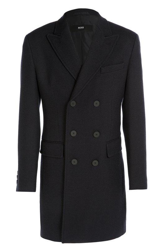 Шерстяное двубортное пальто BOSS 50323976