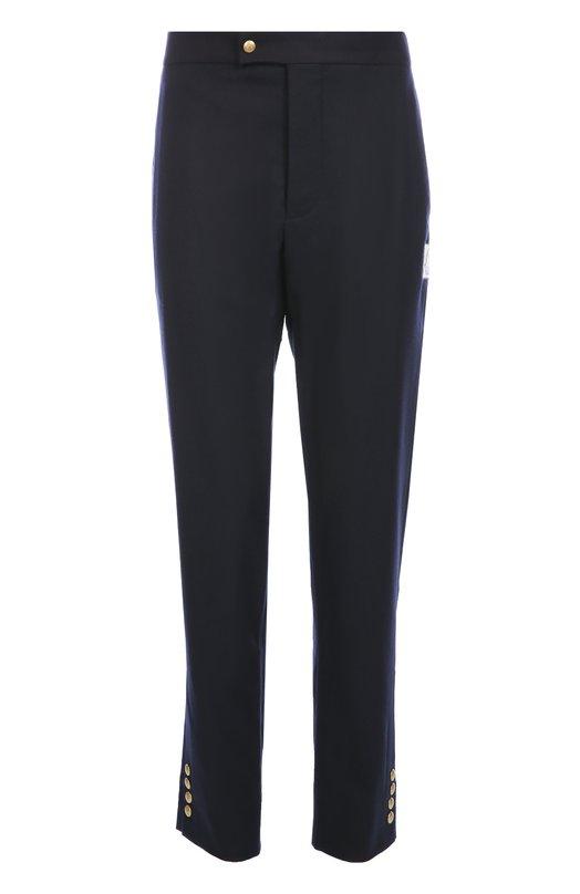 Шерстяные брюки с заниженной линией шага Moncler B2-391-10082-00-10096