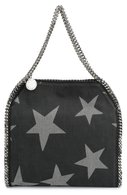 Сумка Falabella small с принтом Stella McCartney чёрная | Фото №1