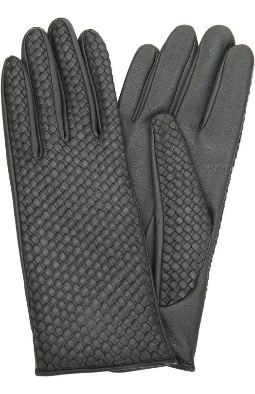 Кожаные перчатки с плетением Agnelle CHL0ETRES