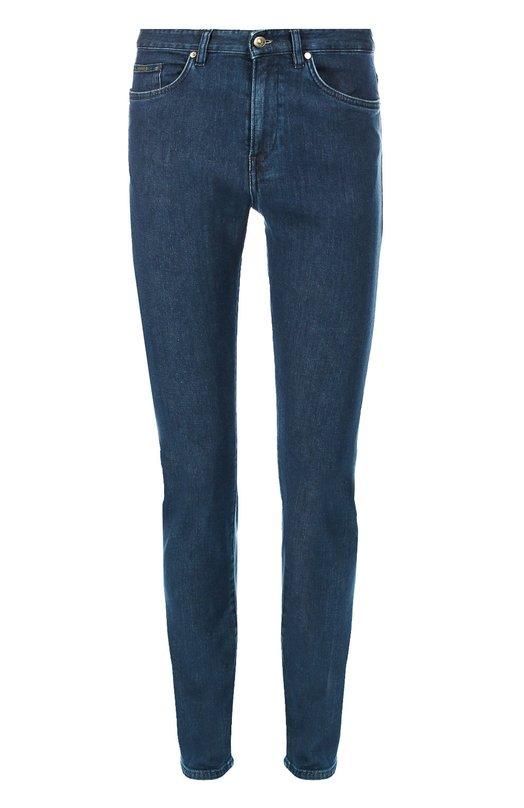 Джинсы скинни из эластичного хлопка BOSSДжинсы<br>Мастера бренда, основанного Хуго Фердинандом Боссом, сшили синие джинсы из плотного гладкого хлопка с добавлением эластичных нитей. Зауженная модель вошла в коллекцию сезона осень-зима 2016 года. Нам нравится сочетать с темными джемпером и курткой, а также с черными кедами.<br><br>Российский размер RU: 50<br>Пол: Мужской<br>Возраст: Взрослый<br>Размер производителя vendor: 34/36<br>Материал: Хлопок: 98%; Эластан: 2%;<br>Цвет: Темно-синий