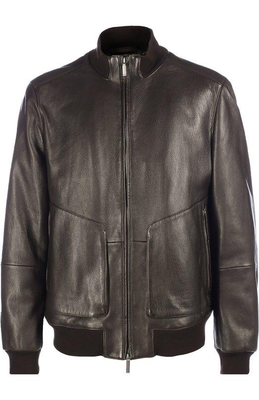 Кожаная куртка-бомбер BOSS 50321382