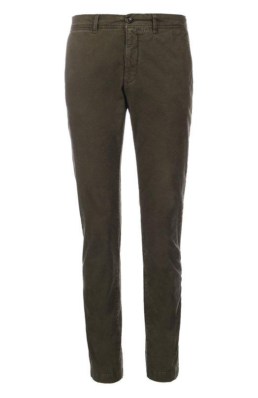 Зауженные брюки из эластичного хлопка Moncler B2-091-11006-40-54515