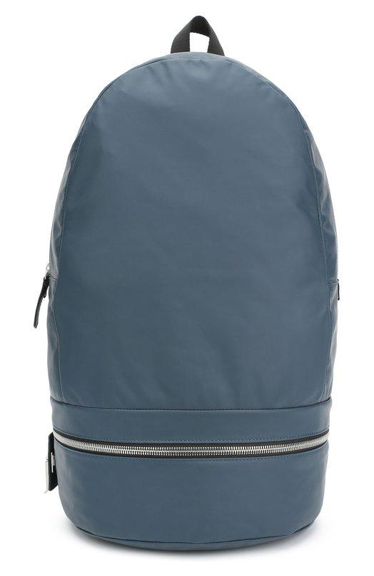 Кожаный рюкзак с отделкой из шерсти Z ZegnaРюкзаки<br>Синий рюкзак сшит из тонкой кожи Pelle Popeline, отличающейся особой мягкостью и гладкостью. Молнии прорезинены, что исключает попадание влаги внутрь аксессуара. Модель с текстильной спинкой вошла в осенне-зимнюю коллекцию марки, основанной семьей Зенья.<br><br>Пол: Мужской<br>Возраст: Взрослый<br>Размер производителя vendor: NS<br>Материал: Кожа натуральная: 70%; Шерсть: 30%;<br>Цвет: Синий
