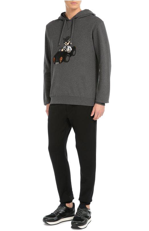 Хлопковая толстовка с аппликацией и капюшоном Dolce & Gabbana 0101/G9GV7Z/G7IIF