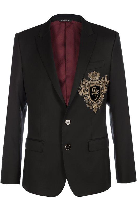 Шерстяной пиджак с вышивкой канителью Dolce & Gabbana 0101/G2IP5Z/FU2R8