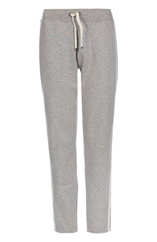 Купить Женские светло-серые брюки прямого кроя с эластичным поясом MONCLER B2-093-87722-00-80449