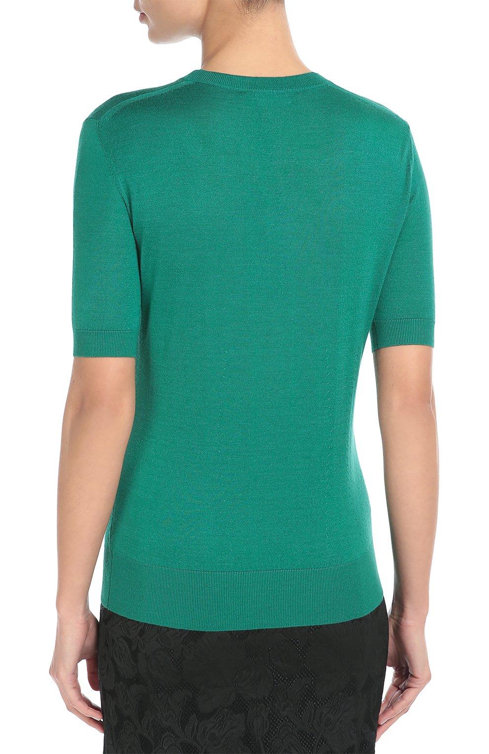 Зеленый пуловер с короткими рукавами доставка