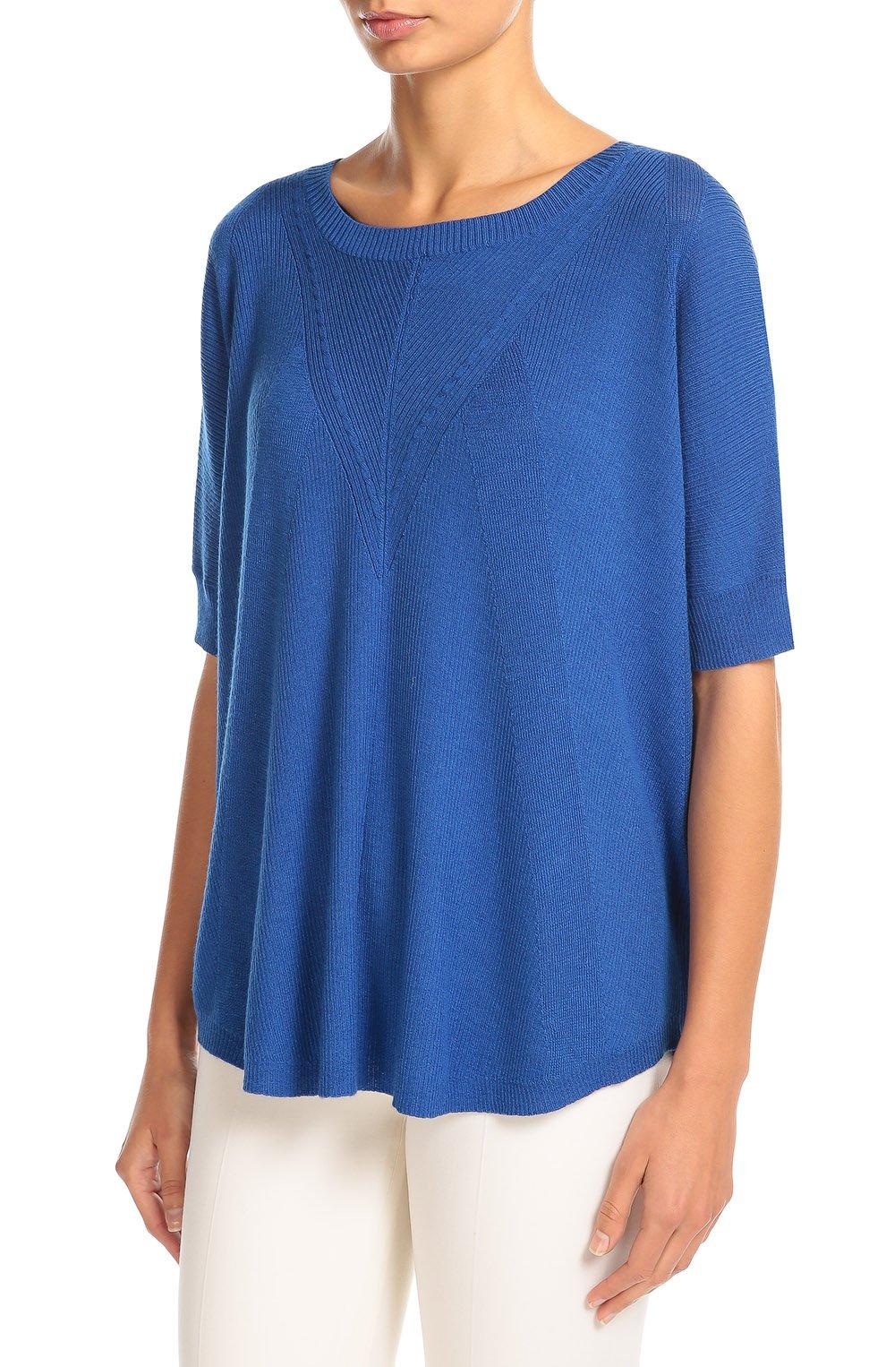 Синий пуловер с коротким рукавом доставка