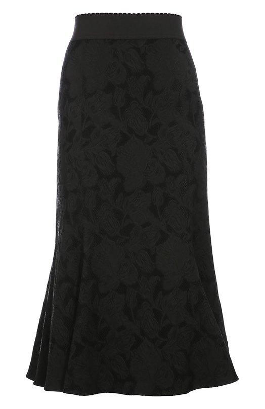 Кружевная юбка-миди с широким поясом Dolce & Gabbana 0102/F4APDT/FJRCL