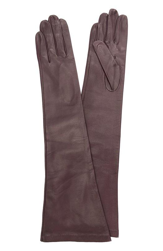 Длинные кожаные перчатки Sermoneta Gloves SG12/301/B10BT/NAPPA/SILK