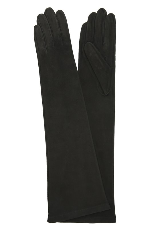 Длинные замшевые перчатки Sermoneta GlovesПерчатки<br><br><br>Российский размер RU: 6<br>Пол: Женский<br>Возраст: Взрослый<br>Размер производителя vendor: 6<br>Материал: Подкладка-шелк: 100%; Замша натуральная: 100%;<br>Цвет: Черный