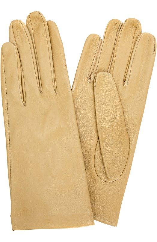 Кожаные перчатки с подкладкой из шелка Sermoneta GlovesПерчатки<br>Светло-бежевые перчатки с подкладкой из тонкого шелка вошли в осенне-зимнюю коллекцию 2016 года. Модель выполнена мастерами бренда вручную из эластичной ультрамягкой кожи. Благодаря разрезу на тыльной стороне запястья аксессуар удобно снимать и надевать.<br><br>Российский размер RU: 6<br>Пол: Женский<br>Возраст: Взрослый<br>Размер производителя vendor: 6<br>Материал: Подкладка-шелк: 100%; Кожа натуральная: 100%;<br>Цвет: Светло-бежевый