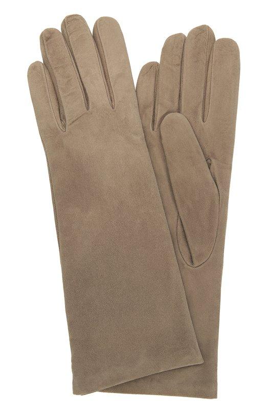 Замшевые перчатки с подкладкой из кашемира Sermoneta Gloves SG12/305/4BT/SUEDE/CASH