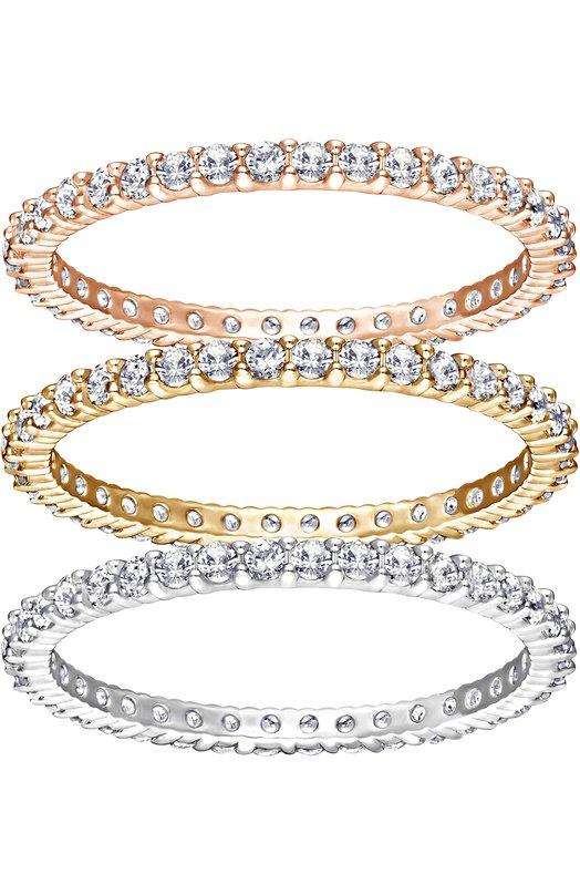 Набор колец Vittore SwarovskiКольца<br>Сет из трех колец Vittore с прозрачными кристаллами вошел в коллекцию сезона осень-зима 2016 года. Для создания каждого украшения использован полированный металл с одним покрытием: позолотой, из розового золота и родия. Рекомендуем носить три кольца вместе, на одном пальце.<br><br>Российский размер RU: 17<br>Пол: Женский<br>Возраст: Взрослый<br>Размер производителя vendor: 55<br>Материал: Металл с покрытием из розового золота; Металл с родиевым покрытием; Металл с позолотой; Кристаллы Сваровски;<br>Цвет: Золотой