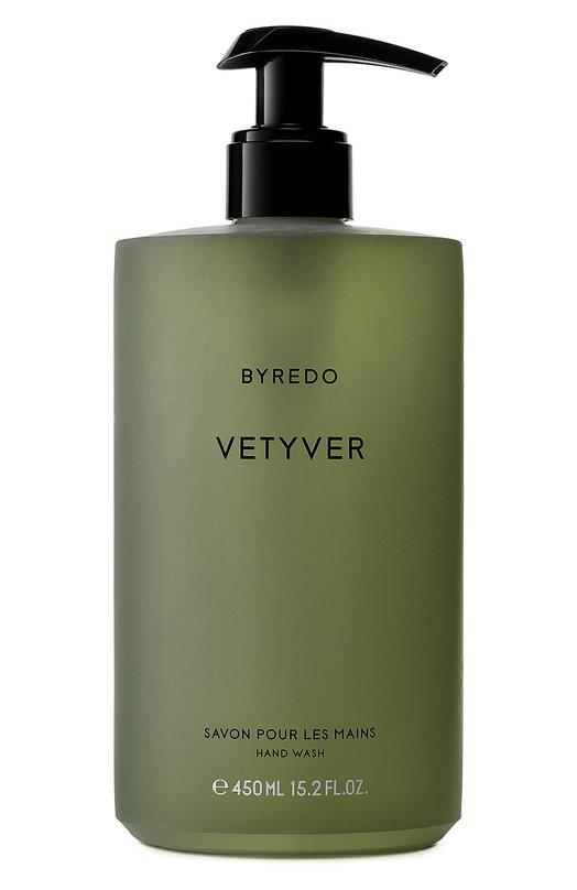 Мыло для рук Vetyver ByredoСредства для душа и ванны<br><br><br>Объем мл: 450<br>Пол: Женский<br>Возраст: Взрослый<br>Цвет: Бесцветный