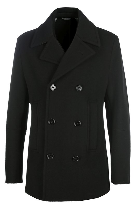 Шерстяное двубортное пальто BOSS 50323966
