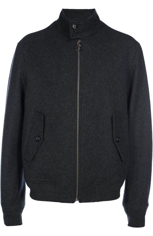 Шерстяная куртка-бомбер на молнии Z ZegnaКуртки<br>Темно-серый харрингтон вошел в коллекцию сезона осень-зима 2016 года. При создании куртки марки, основанной семьей Зенья, использовали плотную шерсть. Боковые карманы и воротник-стойка застегиваются на пуговицы, сама модель — на молнию с пуллером в виде логотипа бренда.<br><br>Российский размер RU: 54<br>Пол: Мужской<br>Возраст: Взрослый<br>Размер производителя vendor: 52<br>Материал: Шерсть: 90%; Отделка-шерсть: 50%; Отделка-акрил: 50%; Подкладка-купра: 100%; Полиамид: 10%;<br>Цвет: Темно-серый