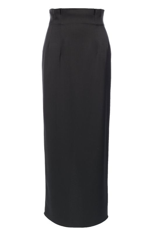 Юбка-карандаш с завышенной талией и высоким разрезом Armani CollezioniЮбки<br>Длинная юбка-карандаш с разрезом вместо шлицы вошла в осенне-зимнюю коллекцию 2016 года. Для создания модели с завышенной линией талии Джорджио Армани выбрал плотный креп-сатин черного цвета. Изделие застегивается на потайную молнию сзади.<br><br>Российский размер RU: 54<br>Пол: Женский<br>Возраст: Взрослый<br>Размер производителя vendor: 52<br>Материал: Полиэстер: 100%;<br>Цвет: Черный