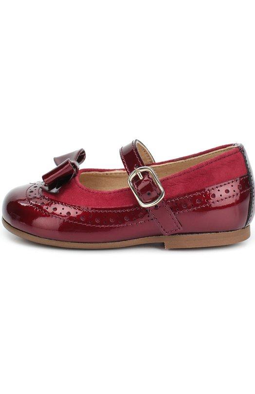 Лаковые туфли с бантом и замшевой отделкой Clarys 1089/0DE0N/ANTE/17-20